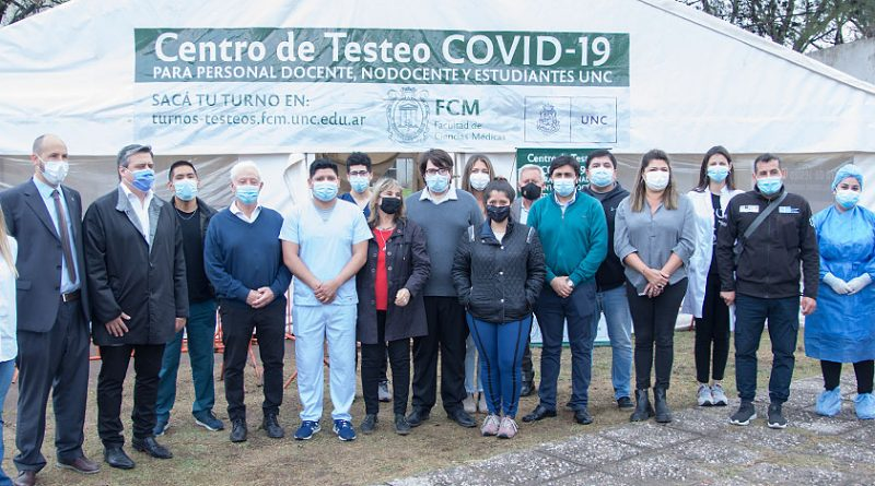 El rector de la UNC inauguró un centro de testeo Covid-19 en Ciencias Médicas